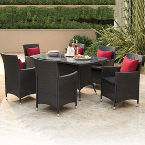 Balinese Grey 6 Seat Dining Set
