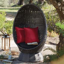 Balinese Cocoon Swivel Chair