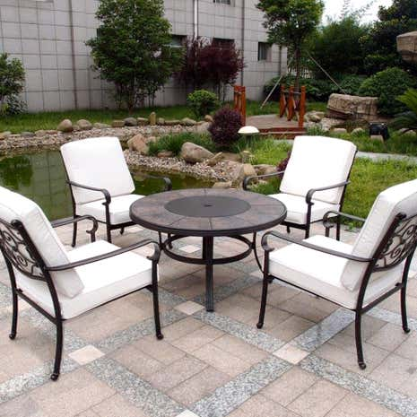 Versailles 4 Seater Fire Pit Set