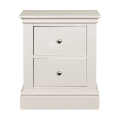 Blakely Cotton 2 Drawer Bedside Table