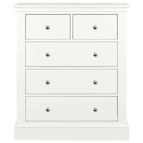 Blakely White 5 Drawer Chest