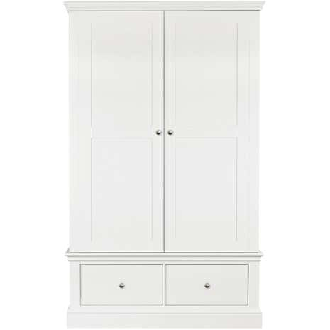 Blakely White Double Wardrobe