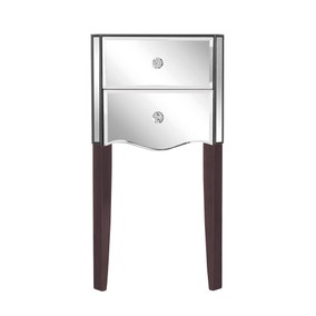 Viola Mirrored 2 Drawer Bedside Table