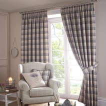 Balmoral Mauve Lined Pencil Pleat Curtains