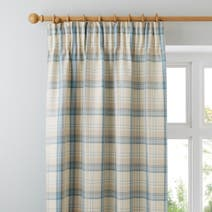 Duck Egg Blue Balmoral Lined Pencil Pleat Curtains