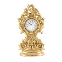 Gold Ornate Mantel Clock