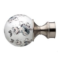 Mix and Match Dia. 28mm Ivory Ceramic Floral Ball Finials