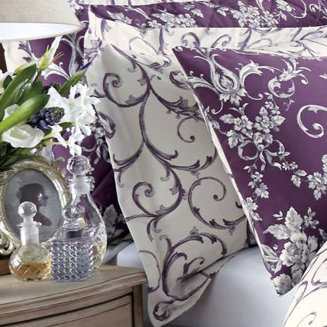 Adriana Sateen Plum Oxford Pillowcase