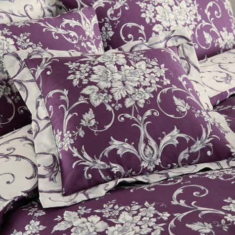 Adriana Sateen Plum Cushion