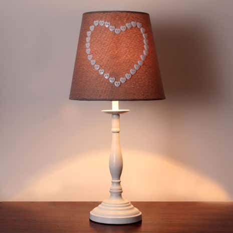 Amour Heart Button Table Lamp