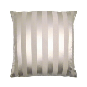 Large Ascot Grey Striped Cushion Cover