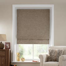 Natural Bali Blackout Roman Blind