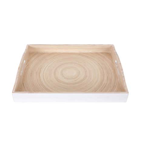 White Large Bamboo tray