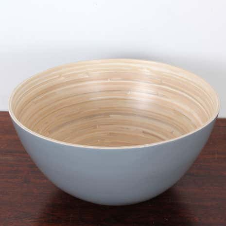 Grey Bamboo Serving Bowl