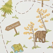 Bear Adventure Cotton Fabric