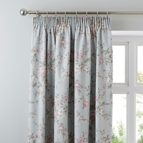 Bethany Duck-Egg Thermal Pencil Pleat Curtains