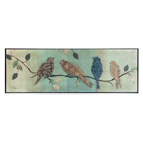 Birds on Branch Crackle Effect Canvas