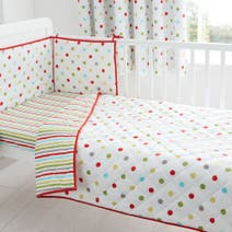 Bright Nursery Coverlet and Bumper Set