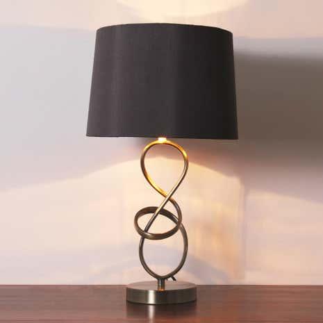calais metal twist table lamp - Table Lamps