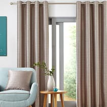 Elements Grey Camden Lined Eyelet Curtains