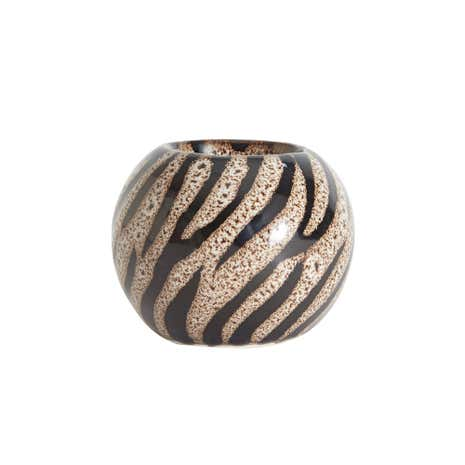 Zebra Print Ceramic Tealight Holder