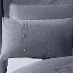 Chambray Blue Housewife Pillowcase