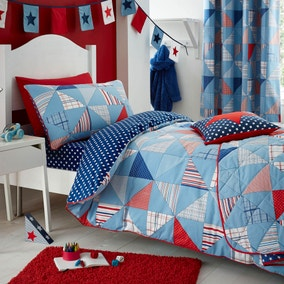 Cool Patchwork Duvet Cover and Pillowcase Set