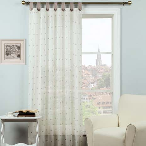 Country Mocha Dotty Voile Panel