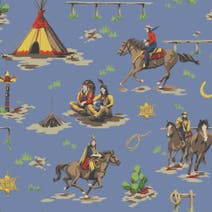 Cowboys and Indians PVC Fabric