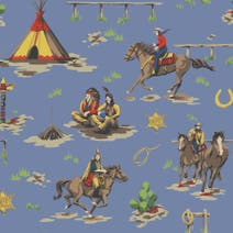 Cowboys and Indians Fabric