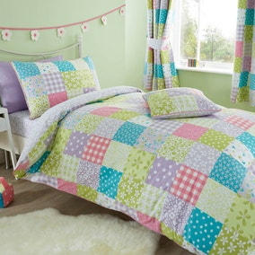 Ditsy Patchwork Duvet Cover and Pillowcase Set