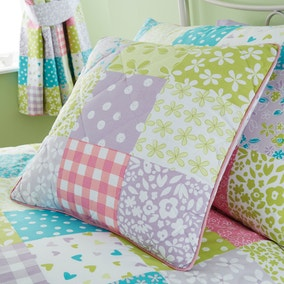 Ditsy Patchwork Square Cushion