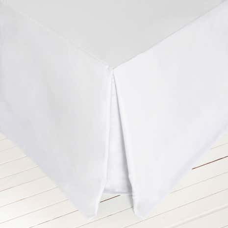 Dorma 500 Thread Count Cotton Satin Plain Dye Divan Valance