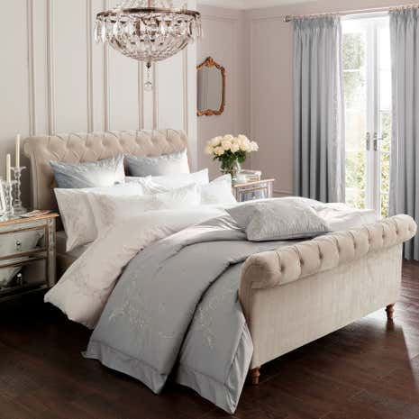 Dorma Brocatello Grey Bedspread