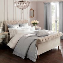 Dorma Grey Brocatello Bedspread