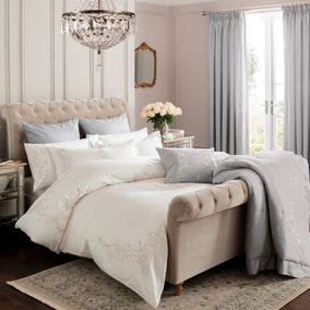 Dorma Brocatello White Duvet Cover