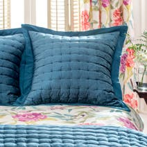 Dorma Tropical Cordelia Teal Continental Pillow Sham