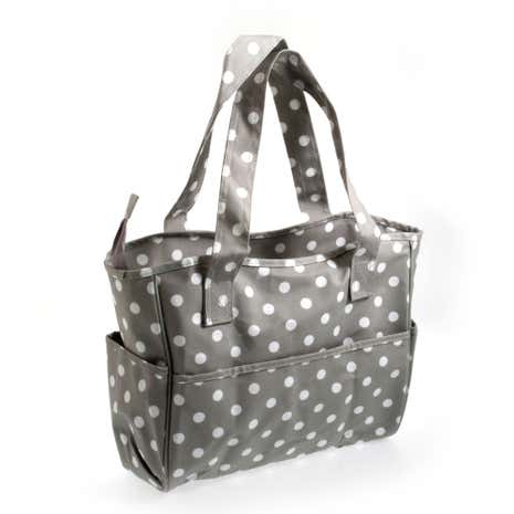 Grey Dotty Matt Craft Bag