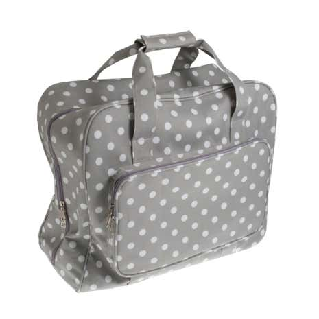 Grey Dotty Matt Sewing Machine Bag