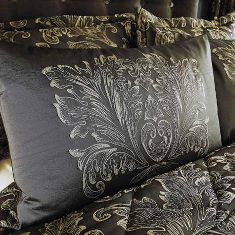 Elegant Script Pewter Housewife Pillowcase