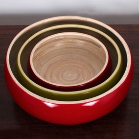 Elements Pack of 3 Bamboo Bowls