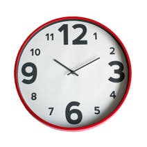 Elements Red Plastic Clock