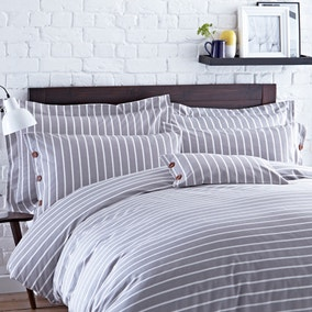 Elements Grey Stripe Oxford Pillowcase