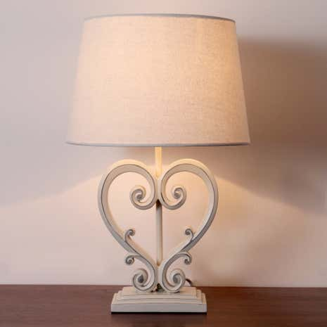 Ellen Resin Heart Table Lamp