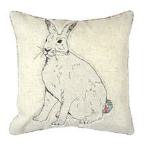 Embroidered Bunny Cushion