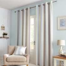 Falmouth Duck-Egg Lined Eyelet Curtains
