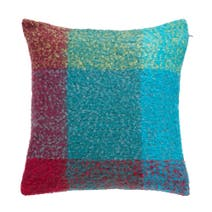Faux Mohair Check Cushion