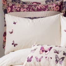 Flora Butterfly Housewife Pillowcase