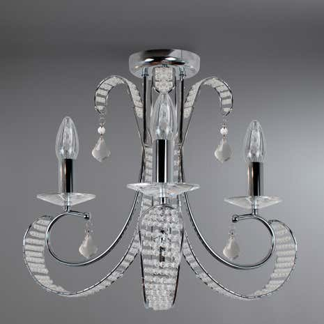 Florence 3 Light Glass Beaded Chandelier