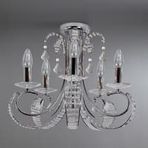 Florence 5 Light Glass Beaded Fitting
